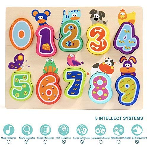 TOP BRIGHT Puzzles Toys for 1 Year Old Girl Gifts and One Year Old Boy Learning Toys for Toddlers