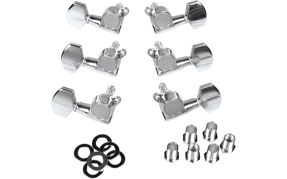 Gotoh MLC3-G 3-On-A-Side Locking Tuners 6-Pack Chrome