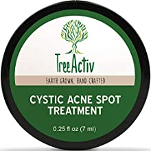 TreeActiv Cystic Acne Spot Treatment This Cystic Acne Spot Treatment is the most effective treatment for severe and cystic acne. Packed with all-natural ingredients that calm the skin while eliminating acne from within. Continued use eliminat...