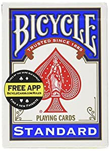 Bicycle Standard Index Playing Cards 1 Deck, Colors may Vary (Red or Blue)