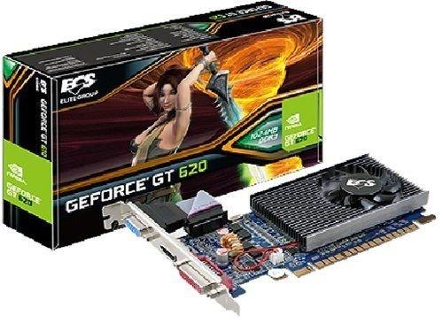 ECS GT610C 2GR3 QFT PCI Express 2.0 DVI/HDMI/VGA Graphics Card GT620C-2GR3-QFT by ECS