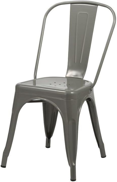Sedie In Ferro Vintage.Duhome Sedia Da Sala Da Pranzo In Metallo Ferro Grigio Con