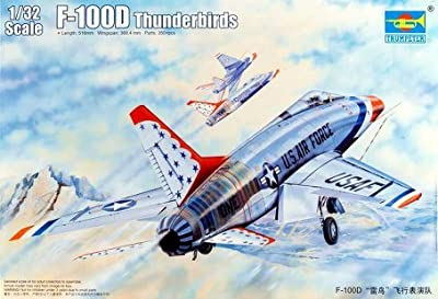Trumpeter 1/32 F100D Thunderbirds USAF Aircraft Model Kit