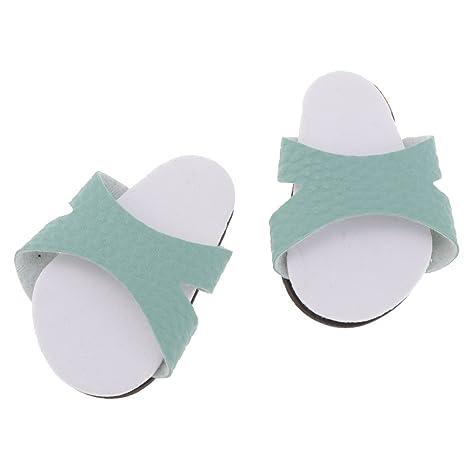 D DOLITY Traje De Zapatillas De Moda Verde para 18 Pulgadas American Girl Journey Dolls Shoes