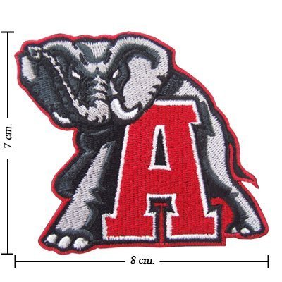 Alabama Crimson Tide Logo Embroidered Iron Patches (Alabama Crimson Tide Applique)