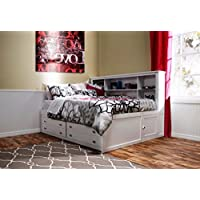 Beatrice Youth 5 Piece Twin Lounge Bedroom Set in White Finish