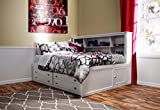 Beatrice Youth 4 Piece Twin Lounge Bedroom Set in White Finish