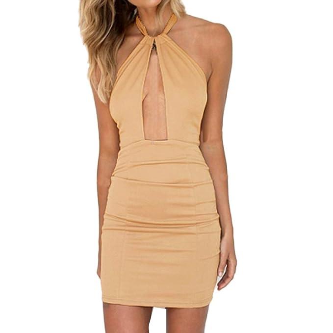 997e836b24187 Vovotrade® Vestito da Donna con Spalle Scoperte Mini Abito Corto Abito da  Sera Fasciatura Bodycon Dress  Amazon.it  Abbigliamento