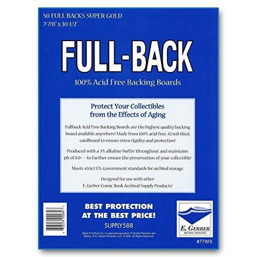 Full-Backs Super Gold 42-Mil Comic Book Backing Boards 7-7/8
