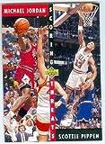 Michael Jordan and Scottie Pippen basketball card (Chicago Bulls Hall of Famers) 1992 Upper Deck #62