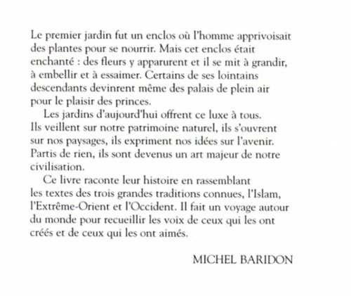 Les jardins: Paysagistes, jardiniers, poètes (Bouquins) (French Edition): Michel Baridon: 9782221067079: Amazon.com: Books