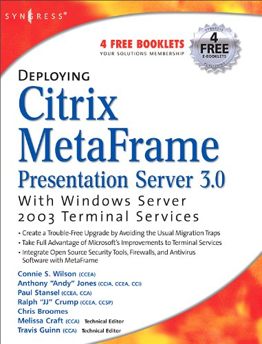 Download Deploying Citrix MetaFrame Presentation Server 3.0 with Windows Server 2003 Terminal Services Pdf