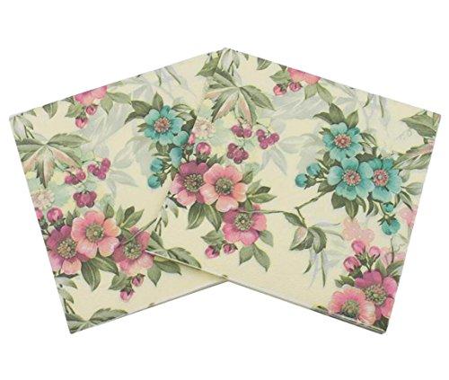 40 count paper napkins designed vintage flowers prints cocktail napkins serviettes napkins for weeding