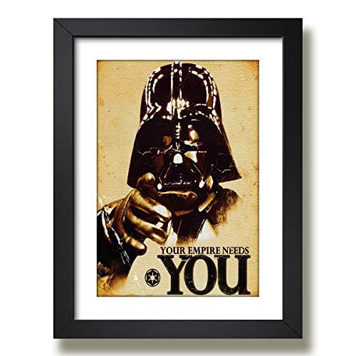 Quadro Darth Vader Star Wars Cinema Filme Decorativo Sala Paspatur Pronto para Pendurar