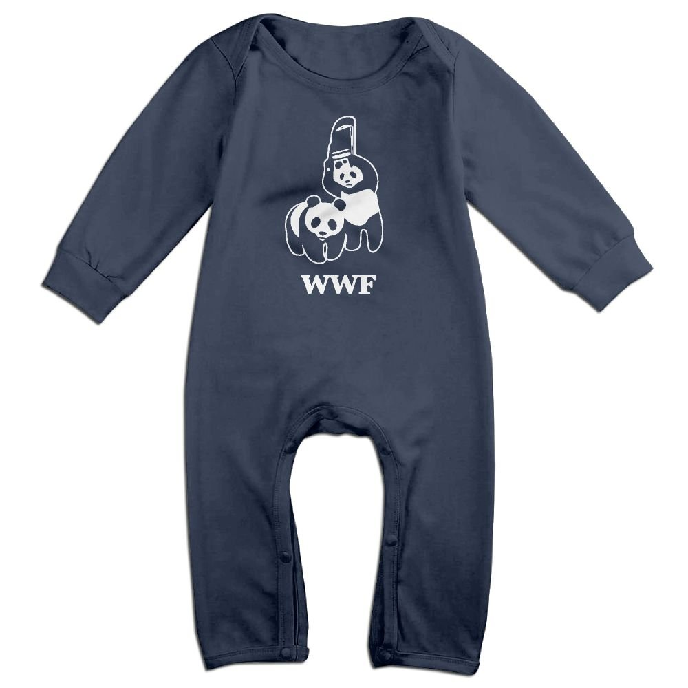 WWF Panda Bear Wrestling Toddler Long Sleeves Onesie Jumpsuit Playsuit Outfits Clothes For 6-24m Baby by NEWBABY