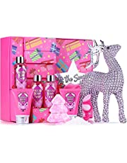 Bath Sets for Women - 9 Piece Bath and Body Set Scented with Frosted Berry Twist, Includes Bubble Bath, Body Lotion, Hand Cream, Shower Gel, Bath Bomb and More, Spa Gift Box for Her, Perfect Gift Set for Women, Valentines Day, Anniversary Gift Idea