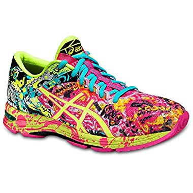 watch ff393 1ea99 ASICS Women s Gel-Noosa Tri 11 Running Shoe, Hot Pink Flash Yellow