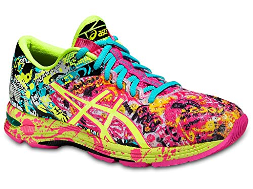 ASICS Women's Gel-Noosa Tri 11 Running Shoe, Hot Pink/Flash Yellow/Black, 6.5 M US (Asics Running Shoes Gel Flash)