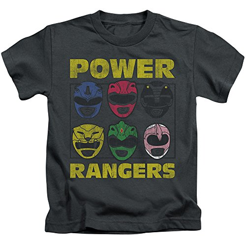 Juvenile: Power Rangers - Ranger Heads Kids T-Shirt Size 5/6