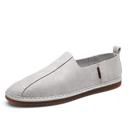 Zapatos para Hombres, 2018 Primavera otoño Wild Suede Mocasines y Zapatillas sin Cordones, versión