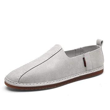 HhGold Zapatos para Hombres, 2018 Primavera otoño Wild Suede Mocasines y Zapatillas sin Cordones,