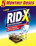RID-X Septic Tank System Treatment, 5 Month Supply Powder, 49 Ounce