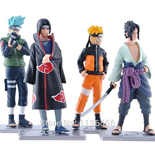 Uzumaki Naruto Uchiha Itachi Hatake Kakashi PVC Action Figure Collection Model Toy Japanese Anime 4 pcs/set 12cm 4.7