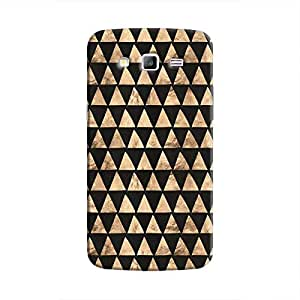 Cover It Up - Brown Black Triangle Tile Galaxy J5 Hard Case