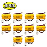 (10 pack) Battery Replacement Exit Sign Emergency Light NiCad Unitech 6200RP 3.6v 900mAh Lowes OSA230 Lowes 253799 Unitech AA900MAH 6200-RP Unitech LEDR-1