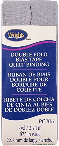 Wrights Medium Grey Double Fold Quilt Binding 7/8