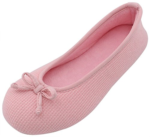 ultraideas-womens-comfort-memory-foam-breathable-knitted-terry-lining-washable-ballerina-slippers-an