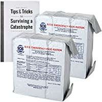 S.O.S. Rations Emergency 3600 Calorie Food Bar - 3 Day / 72 Hour Package with 5 Year Shelf Life 2 pack (with Jeff Brown's tips)