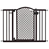 Summer Modern Home Decorative Walk Thru Baby Gate, 28-42 Inch Wide Pressure Mount