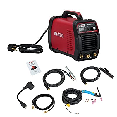 AMICO POWER XYTIG22502018 TIG-225 220 Amp HF TIG Torch/Stick/Arc Welder, Red