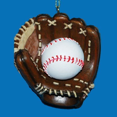 Kurt Alder Baseball and Mitt Ornament -