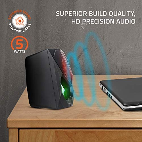 Artis S21 2.0 Channel Stereo USB Multimedia Speaker (Black) (5W RMS Output)