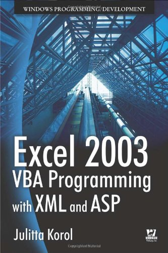 Excel 2003 VBA Programming With XML And ASP by Brand: Jones Bartlett Publishers