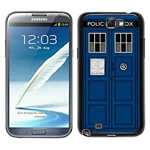 Doctor Who Tardis Black New Style Custom Samsung Galaxy Note 2 N7100 Cover Case