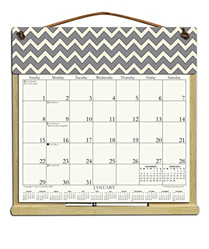 Wooden Refillable Calendar Holder filled with 2018, 2019 and an order form for 2020-GRAY (Wooden Calendar Holder)