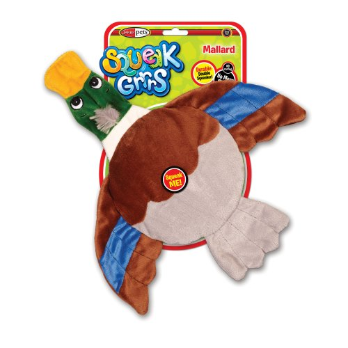 SqueakGrrrs Mallard Flyer Squeak Toy for Dogs, My Pet Supplies