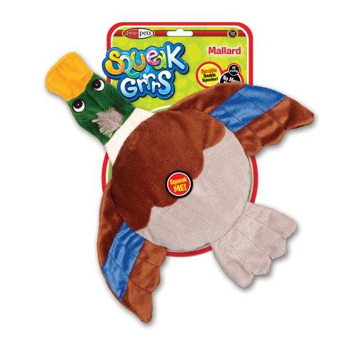 SqueakGrrrs Mallard Flyer Squeak Toy for Dogs, My Pet Supplies