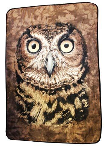Animal World Owl Face Fleece Blanket