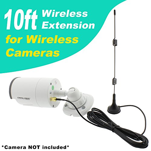 Crystal Vision Premium HD Wireless Camera Antenna Extension for Crystal Vision, Lorex, Funlux, XmartO, Reolink, Annke, Zosi, A-Zone, Smonet, Zmodo (Wireless Extension System)