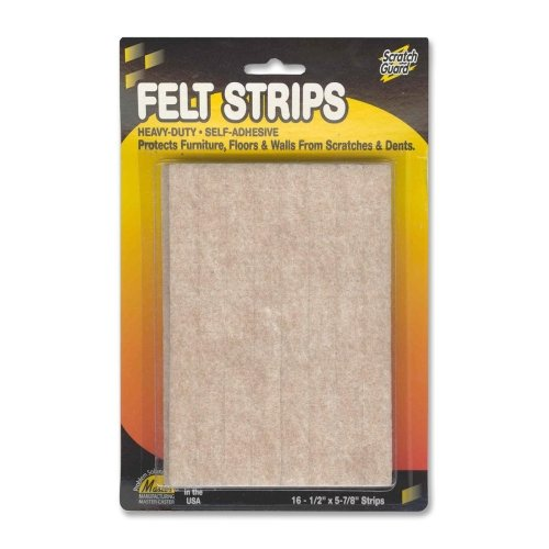 Wholesale CASE of 25 - Master Caster Scratch Guard Felt Pads-Felt Pads, 1/2