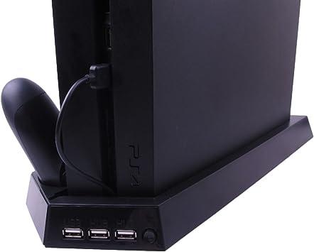 Pandaren® 4 en 1 soporte vertical con 3 puertos adicionales USB y ...