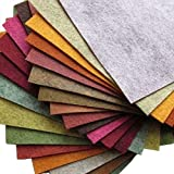 """21 Felt Sheets Mix Color Fall Colors Collection Merino Wool Blend Felt Sheets Crafting, Sewing, General 6""""X6"""" Squares"""