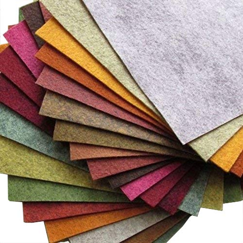 Imported Felt - 21 Felt Sheets Mix Color Fall Colors Collection Merino Wool Blend Felt Sheets Crafting, Sewing, General 6