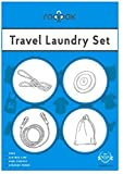Raqpak Travel Laundry Set with Adjustable Bungee Clothesline, Clothes Pins, Sink Stopper and Storage Pouch Multiple Colors (1.3m Line, Yellow)