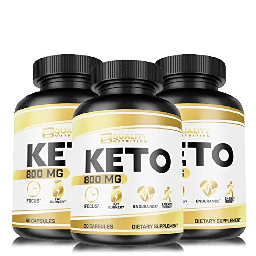 3 Pack Keto Diet Pills - Support Ketosis - Lose Unwanted Pounds - Weight Management Supplements for Women & Men - Appetite Suppressant - Ketogenic Formula with BHB - 60 Capsules - Keto Burn 800 mg
