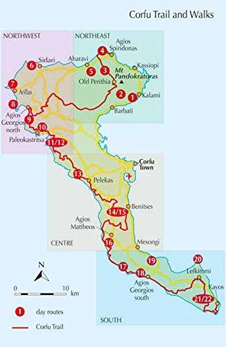 Walking and Trekking on Corfu The Corfu Trail And 22 DayWalks